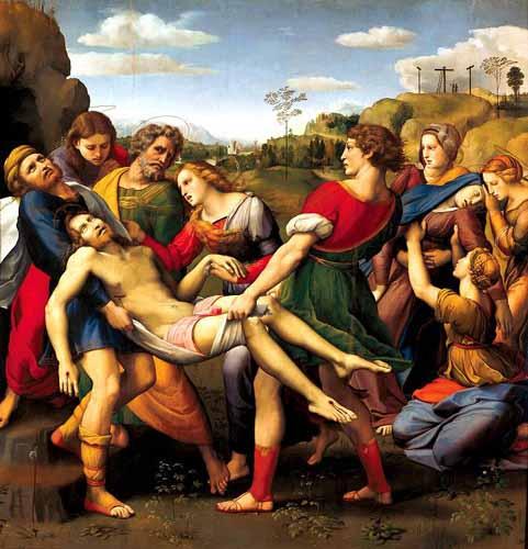 El entierro de Cristo. Rafael Sanzio (1483-1520)