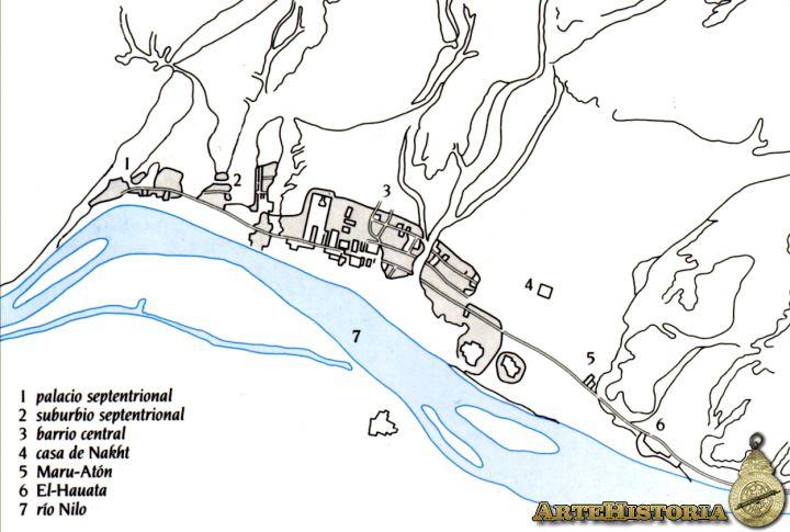 Plano de Ajetatón. Vía Artehistoria.com
