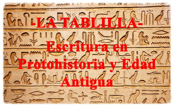Escritura en Protohistoria y Edad Antigua.
