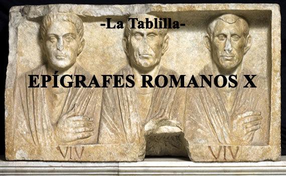 Descifrando epígrafes romanos X: Objetos.